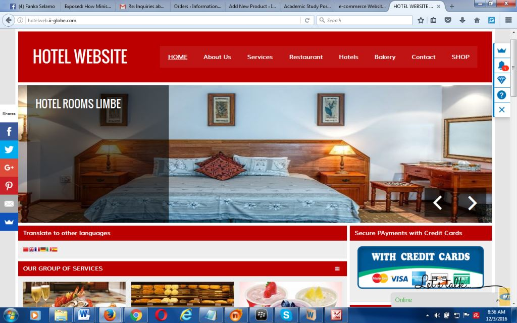 Hotels Ing Paltform Website